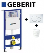 Bati-support Geberit sigma UP320+Plaque Sigma01 Blanche+Manchon Geberit